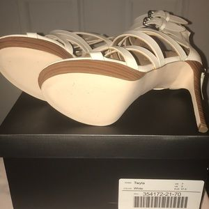 White JustFab heels, with box if wanted.